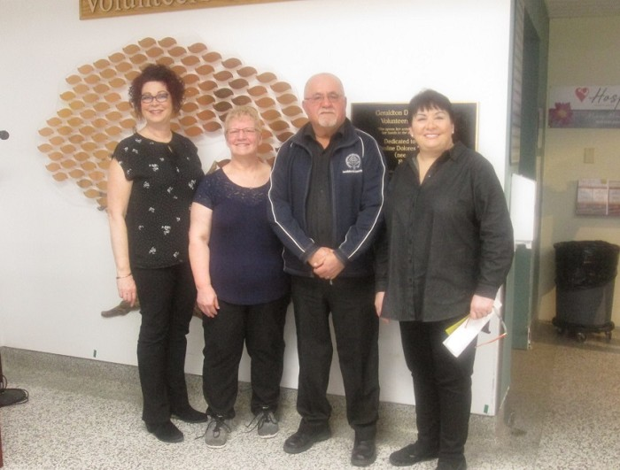 Left to Right: Laurie Heerema, CNE; Yvonne Taphorn, Chico Tschajka, Lucy Bonanno